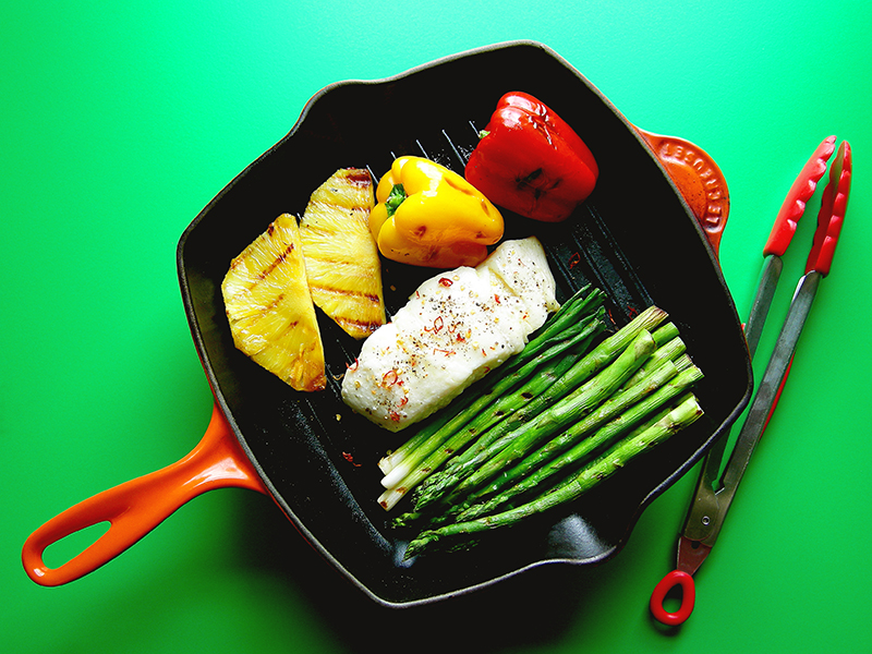 East Van Kitchen's Halibut Grill Pan Dinner, from our Grill Pan Recipes!