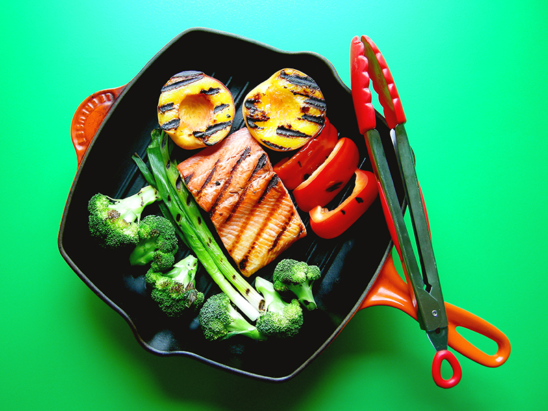 East Van Kitchen's Salmon Grill Pan Dinner, from our Grill Pan recipes!