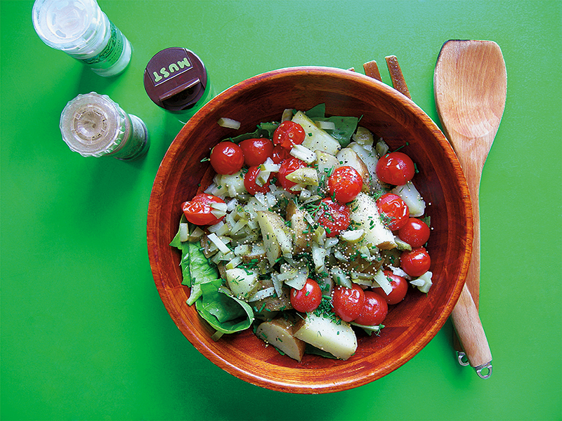 German potato salad pickles tomatoes