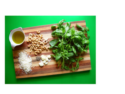 basil pesto cashews garlic