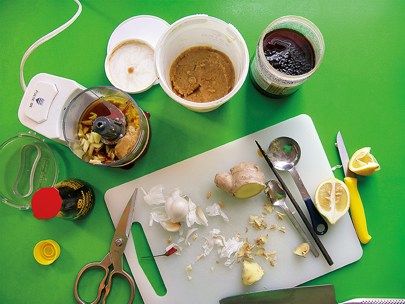 miso gravy vegan dressing ginger garlic