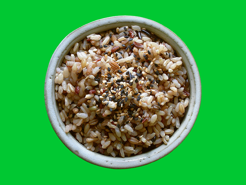 Try this wholesome mixed grain brown rice as a side dish for Japanese Night at your house, or as a satisfying snack with a dash of soy sauce. Find more delicious world pescetarian recipes at eastvankitchen.com